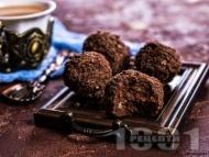 Рецепта Пияни бонбони със сини сливи, орехи и коняк (без печене, сурови)